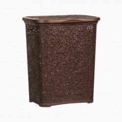 Кружевная корзина для белья 40л (код 2206) коричневый