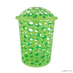 Корзина для белья Сорренто 45л. (зелёный)(уп.6) М1707