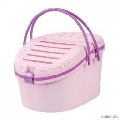 Корзина для переноски животных Феликс (розовый) (уп.5) М6963