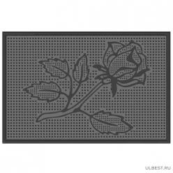 Коврик резиновый Роза (400х600 мм) черный тип. КА 14-1 РТИ