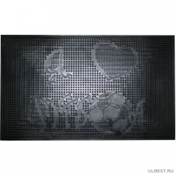 Коврик резиновый Футбол (450х750 мм) черный тип. КА 131 РТИ