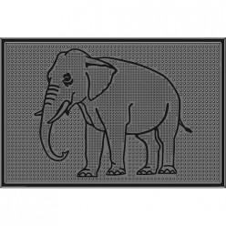 Коврик резиновый Слон (400х600 мм) черный тип. КА 104-1 РТИ