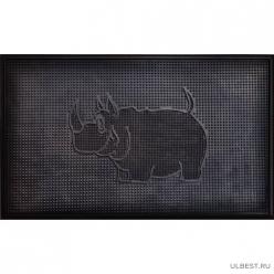 Коврик резиновый Носорог (450х750 мм) черный тип. КА 201 РТИ