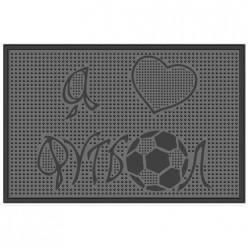 Коврик резиновый Футбол (400х600 мм) черный тип. КА 131-1 РТИ