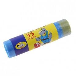 Мешки для мусора С ЗАВЯЗКАМИ 35л (15шт/упак) Мульти-Пласт 2000