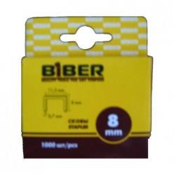 БИБЕР 85812 Скобы для степлера 8мм (1000шт)(20/200)