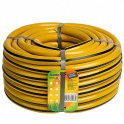 Шланг поливочный 3/4 (20м.) желтый с черной полосой с фитингами