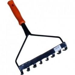 Грабли 8-зубые с ручкой - набор садового инструмента Дачник