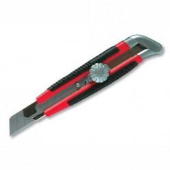 Нож, 18мм, выдвижное лезвие, металл. направляющая, винтовой фиксатор лезвия MATRIX 78914