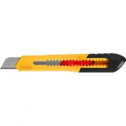 Нож из АБС пластика QUICK-18, сегмент. лезвия 18 мм, STAYER 0910_z01