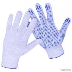 Перчатки трикотажные 10кл 4х нитка ПВХ ТОЧКА