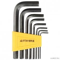 Набор STAYER Ключи STANDART имбусовые 2-10мм, 8 предм. 27405-H8