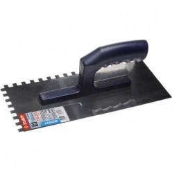 Гладилка ЗУБР нержавеющая с пластиковой ручкой, зубчатая, 8х8мм 0804-08