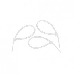Хомуты, 100 х 2,5мм, пластмассовые, белые, 100шт. арт.45515