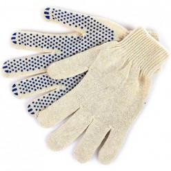 Перчатки трикотажные 10кл 3х нитка с ПВХ ТОЧКА а