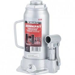 Домкрат гидравлический бутылочный, 12т, h подъема 230-465мм MATRIX MASTER 50727