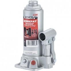 Домкрат гидравлический бутылочный, 3т, h подъема 194-372мм MATRIX MASTER 50717