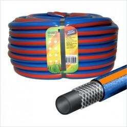 Шланг поливочный.(3/4) (25м.) Х1 синий с оранж.полосой