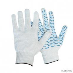 Перчатки трикотажные 10кл 5ти нитка (белый)