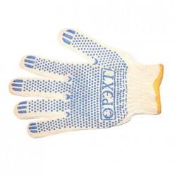 Перчатки 100 % х/б Защита 6-ти нитка с ПВХ (пара)
