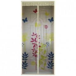 Сетка антимоскитная на магнитах Капутомоскито дизайн Цветы, цвет-бежевый (311256)