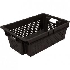 Ящик для овощей №2 600х400х200) черный Бриг
