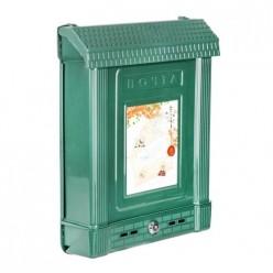 Ящик почтовый с замком (декор) (тёмно-зелёный) (уп.7) М6435