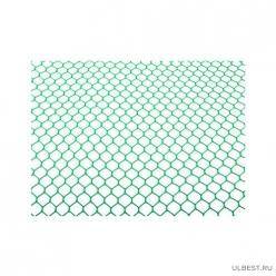 Сетка сад. шестиуг.(15мм)(шир1,5м)(дл10м)(зел)(уп1) М3965