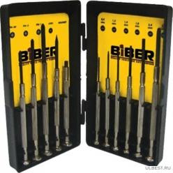 БИБЕР 85566 Набор отверток для точных работ 11шт