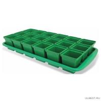 Набор для рассады Урожай-18 СТАНДАРТ 47 х 23,5 х 9 см (18 стаканчиков)
