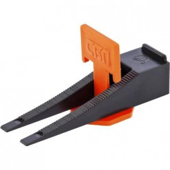 Система выравнивания плитки СВП. Комплект - зажим + клин 40/40 шт. (пакет ПЭНД)// СИБРТЕХ арт.88060