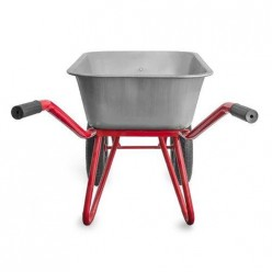 Тачка 2*85л садовая(грузопод.120 кг, стальная рама d30,корыто 0,6мм,колесо с подшипником)