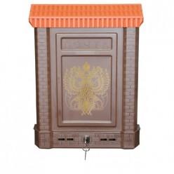 Ящик почтовый ПРЕМИУМ с пласт.защелкой и накладкой
