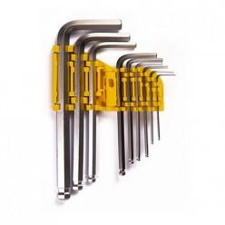 Набор шестигранных ключей Ultima,шаровые, удлиненные, 9 шт в наборе, 1,5-10 мм, сталь CrV арт.122004