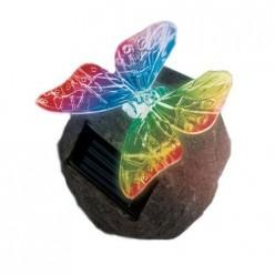 Светильник садовый на солнечной батарее USL-S-116/RT085 Butterfly on rock (10222)