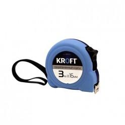 202200 Рулетка KROFT 3*16 мм, прорезиненный корпус
