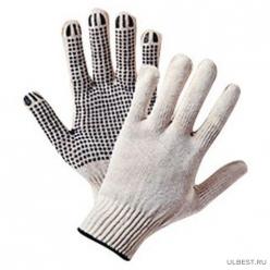 Перчатки х/б СуперСтиль 3-х нитка с ПВХ (50/50)