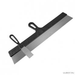 Шпатель фасадный ГОСТ, прямой, пружинная сталь 65Г, лакиров. полотно, пласт.рукоятка, 150мм, (шт.) 1