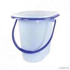 Ведро-туалет 17л. (голубой) М1320