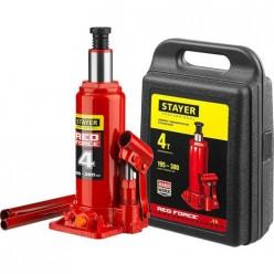 Домкрат гидравл. бутылочный RED FORCE, 4т, 195-380 мм, в кейсе, STAYER 43160-4-K 43160-4-K_z01