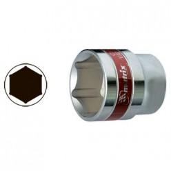 Головка торцевая, 22 мм, 6-гранная, CrV, под квадрат 1/2, хромированная// MATRIX MASTER арт.13122