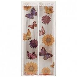 Сетка антимоскитная на магнитах Капутомоскито дизайн Бабочки, цвет-белый (311255)