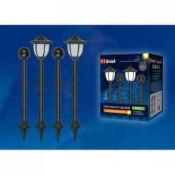 Светильник садовый на солнечной батарее USL-S-181/PT720 LANTERN SET02 (UL-00003132)