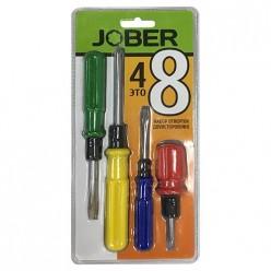 Набор - Отвертки переставные двухсторонние 4 шт  Jober (361002)
