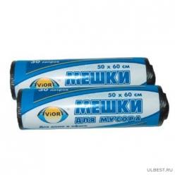 Мешок для мусора 50 х 60см AVIORA 30л рул. 25шт. /80 (106-017)