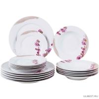 Набор столовый JEWEL Лорен 18 предметов (фарфор) ПКГ10690