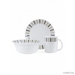 Набор для завтрака JEWEL Амадео 3 предмета (стеклокерамика) ПКЭ00126