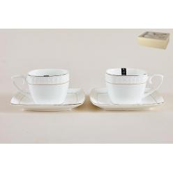 Набор чайный 2/4 240мл Снежная королева квадрат