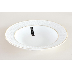 Тарелка суповая 500мл/22см Снежная королева круг
