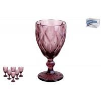 Набор бокалов 1/6 350мл Тебриз фиолетовый